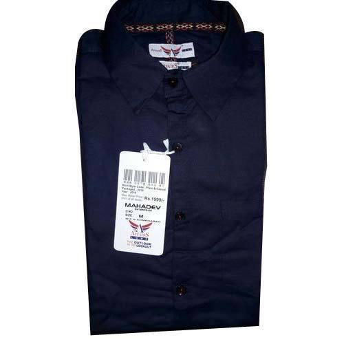 Mens Blue Color Formal Shirt