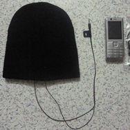 Cable Beanie Headphone Hat