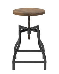 Adjusting Rustic bar stool