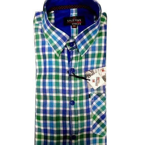 Mens Check Designer Shirt