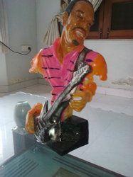 African Musician Statue